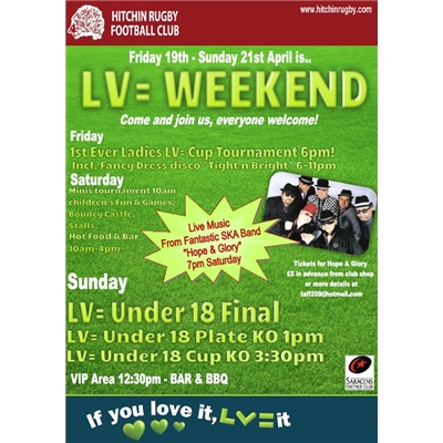 LV= Weekend of Rugby - Friday 19th - Sunday 21st April