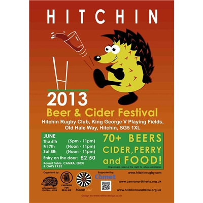 Hitchin Beer & Cider Festival: 6-8 June 2013