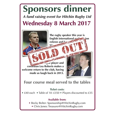 Sponsors dinner: sold-out