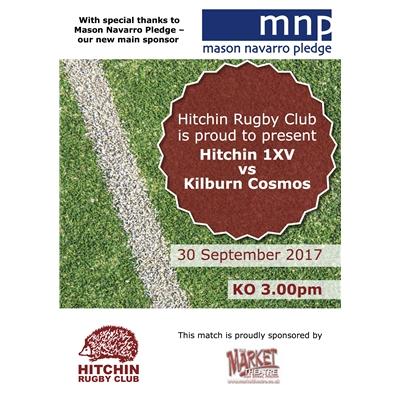 Hitchin 1XV v Kilburn Cosmos: 30 Sept