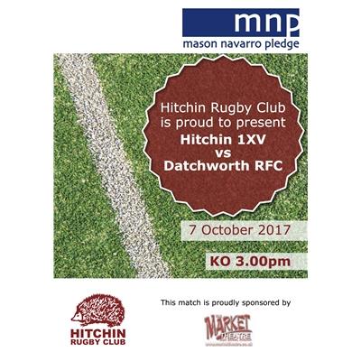 Hitchin 1XV v Datchworth: Sat 7 Oct