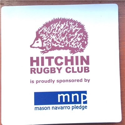 MNP logo on beer mats