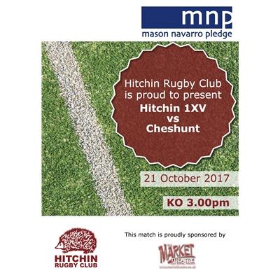 1XV vs Cheshunt: Saturday 21 Oct