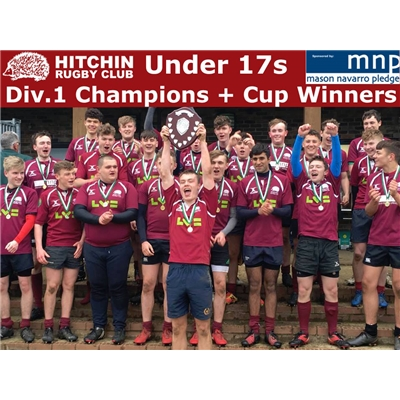 U17s Cup Winners and Div 1 Champions