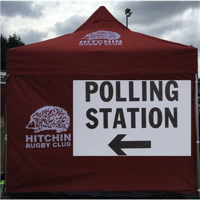 Thursday 6 May 2021: polling station at clubhouse