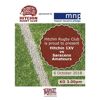 1XV vs Saracens Amateurs: Saturday 6 Oct