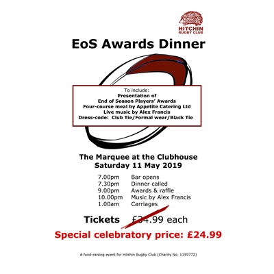 EoS Awards dinner: 11 May 2019
