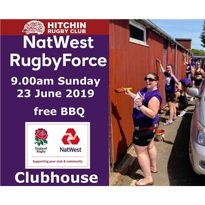 RugbyForce volunteer day: 23 June.