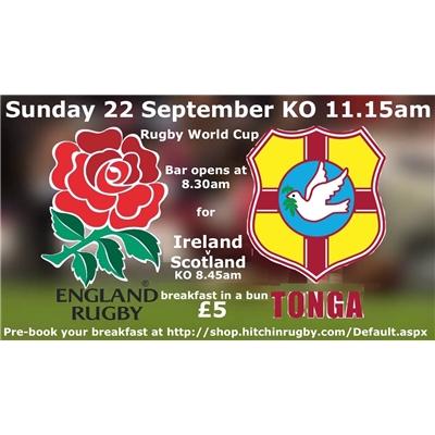 England v Tonga: 22 Sept