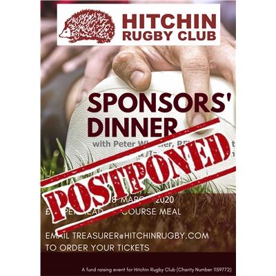 Sponsors dinner: postponed